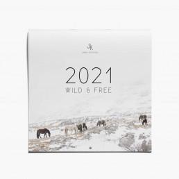 Seinäkalenteri vuodelle 2021 villihevosista